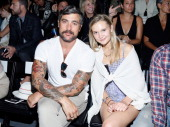 Photographer Douglas Friedman and Alexandra Spencer attend the Ruffian fashion show during MercedesBenz Fashion Week Spring 2014 at The Studio at...