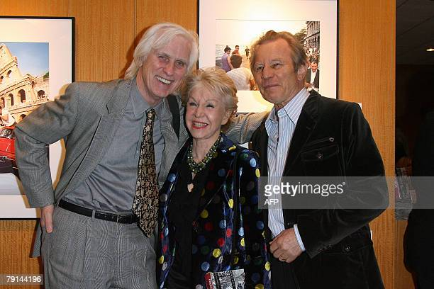 Photographer Douglas Kirkland and actor Michael York pose at the Freeze Frame 5 Decades of Photographs by Douglas Kirkland exhibition 17 January 2008...