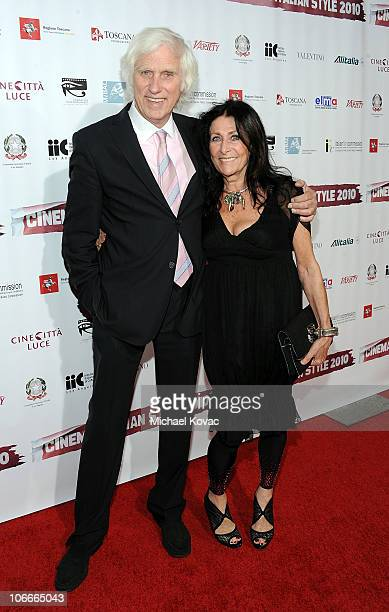 Photographer Douglas Kirkland and wife Francoise attend the Cinema Italian Style Opening Night at the Egyptian Theatre on November 9 2010 in...