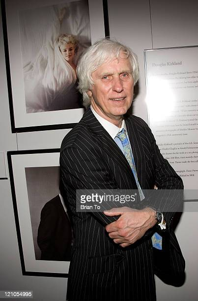 Photographer Douglas Kirkland poses at The Annenberg Space For Photography's 'L8S ANG3LES' Exhibit Opening on March 25 2009 in Los Angeles California