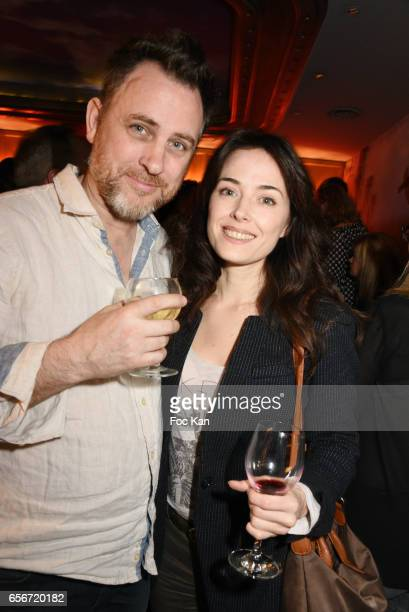 Photographer Eddy Briere and his wife Gwen Briere attend 'Apero Mecs A Legumes' Party Hosted by Grand Seigneur Magazine at the Bistrot Marguerite on...