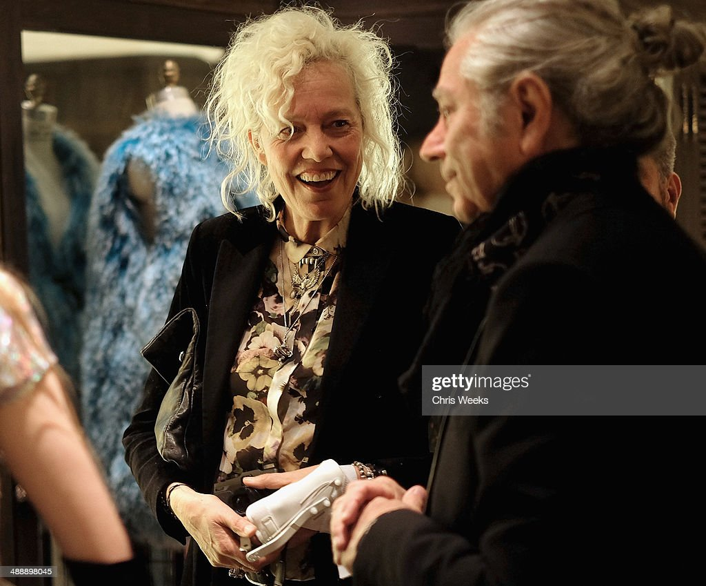 Photographer Ellen von Unwerth (L) and Maxfield's founder Tommy Perse attend Chrome Hearts & Kate Hudson Host Garden Party To Celebrate Collaboration at Chrome Hearts on May 8, 2014 in Los Angeles, California.