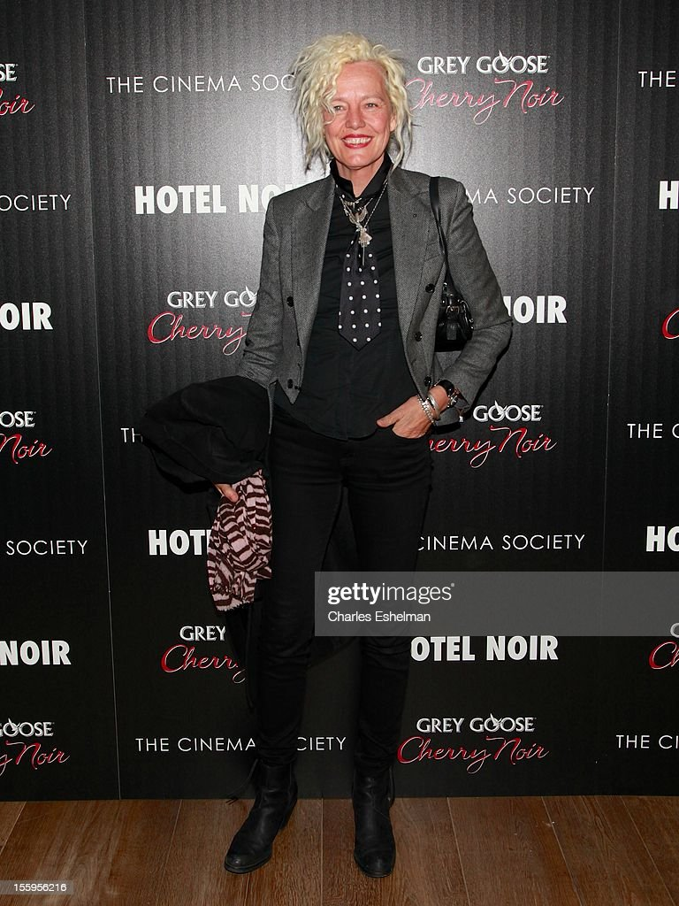 Photographer Ellen von Unwerth attends Gato Negro Films & The Cinema Society screening of 'Hotel Noir' at the Crosby Street Hotel on November 9, 2012 in New York City.