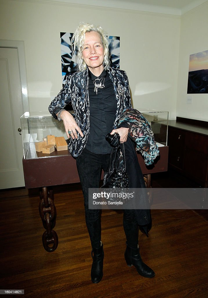 Photographer Ellen von Unwerth attends Hoorsenbuhs for Forevermark Collection cocktail party at Chateau Marmont on January 30, 2013 in Los Angeles, California.