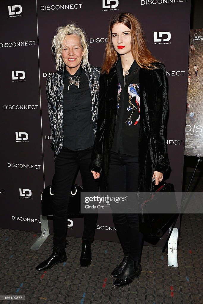 Photographer Ellen von Unwerth (L) attends the 'Disconnect' New York Special Screening at SVA Theater on April 8, 2013 in New York City.