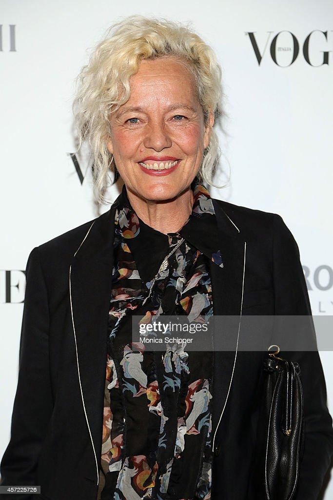 Photographer Ellen von Unwerth attends the Vogue Italia Opening Night Exhibition at Industria Studios on October 14, 2014 in New York City.