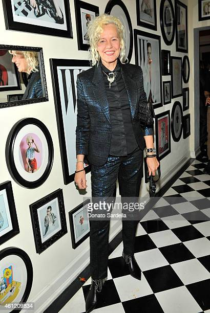 Photographer Ellen von Unwerth attends the W Magazine celebration of the 'Best Performances' Portfolio and The Golden Globes with Cadillac and Dom...