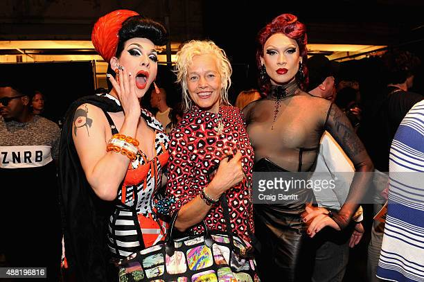 Photographer Ellen von Unwerth backstage at Jeremy Scott Spring 2016 during New York Fashion Week The Shows at The Arc Skylight at Moynihan Station...