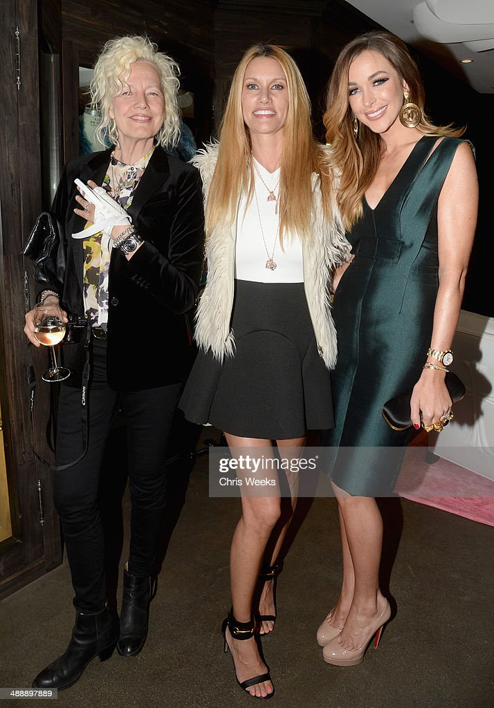Photographer Ellen von Unwerth, Model/tv personality Susan Holmes McKagan and model Courtney Sixx attend Chrome Hearts & Kate Hudson Host Garden Party To Celebrate Collaboration at Chrome Hearts on May 8, 2014 in Los Angeles, California.