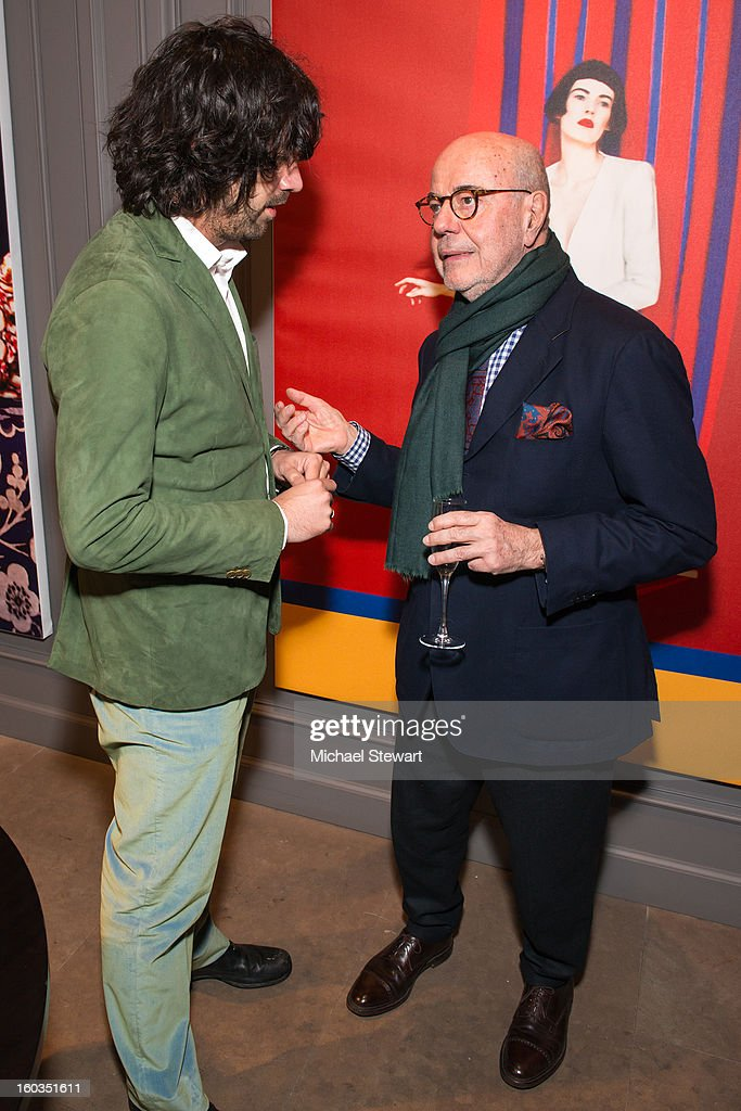 Photographer Erik Madigan Heck (L) and Etro founder Gimmo Etro attend ETRO Spring 2013 Collection Celebration Hosted By Erik Madigan Heck at ETRO Soho Boutique on January 29, 2013 in New York City.