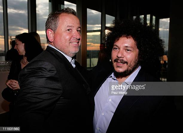 Photographer Fabien Baron and Pascal Dangin attends La Mer Celebrates 'Liquid Light' By Fabien Baron at The Glass Houses on September 10 2008 in New...