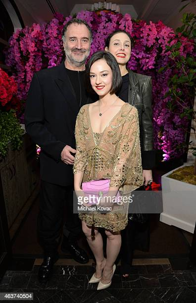 Photographer Fabrizio Ferri Marta Gastini and Geraldina Ferri attend BVLGARI and Save The Children STOP THINK GIVE PreOscar Event at Spago on...