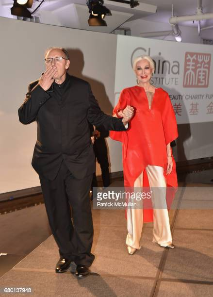 Photographer Fadil Berisha model Carmen Dell'Orefice attends the China Fashion Gala 2017 by China Institute and China Beauty Charity Fund at Tribeca...