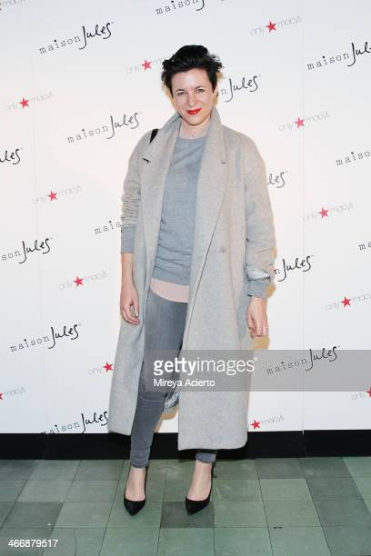Photographer Garance Dor attends the Maison Jules Fall 2014 fashion show at The Park on February 4 2014 in New York City