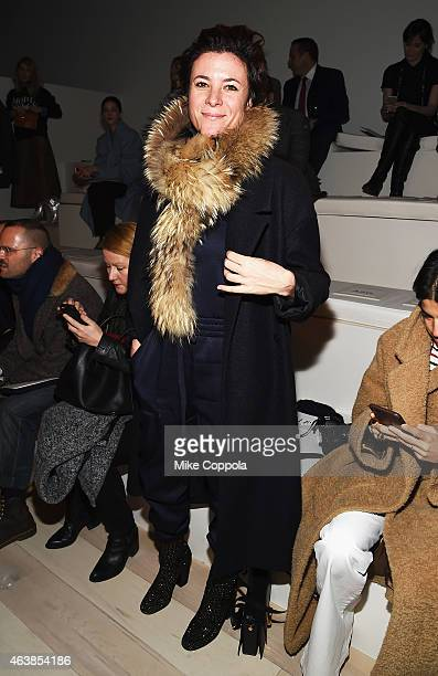 Photographer Garance Dore attends the Ralph Lauren fashion show during MercedesBenz Fashion Week Fall 2015 at Skylight Clarkson SQ on February 19...