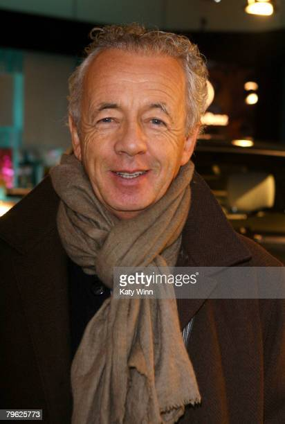 Photographer Giles Bensimon poses at the fashion tents in Bryant Park during MercedesBenz Fashion Week Fall 2008 on February 7 2008 in New York City