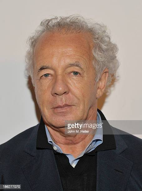 Photographer Gilles Bensimon attends Genlux Magazine's Hosting of of his portraits at the Sofitel Hotel on October 29 2013 in Los Angeles California