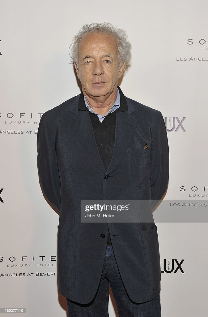 Photographer <a gi-track='captionPersonalityLinkClicked' href=/galleries/search?phrase=Gilles+Bensimon&family=editorial&specificpeople=853462 ng-click='$event.stopPropagation()'>Gilles Bensimon</a> attends Genlux Magazine's Hosting of of his portraits at the Sofitel Hotel on October 29, 2013 in Los Angeles, California.