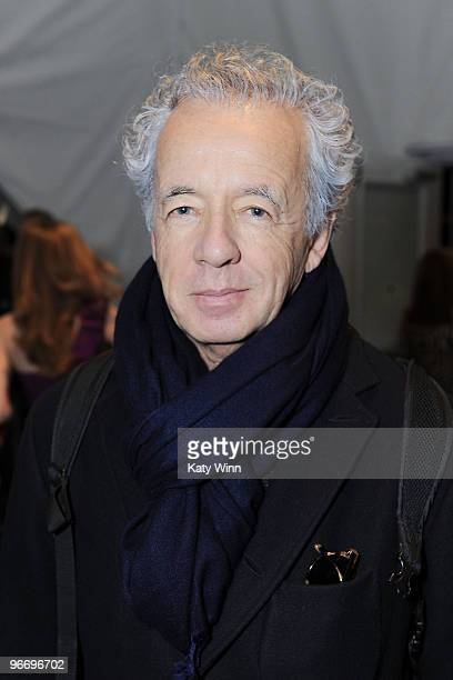 Photographer Gilles Bensimon attends MercedesBenz Fashion Week at Bryant Park on February 14 2010 in New York New York