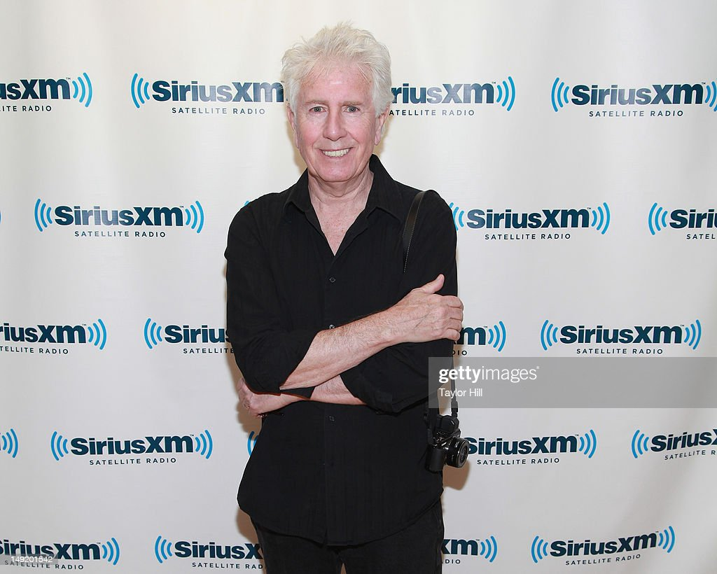 Photographer Graham Nash of Crosby Stills Nash and Young visits SiriusXM Studios on July 24 2012 in New York City