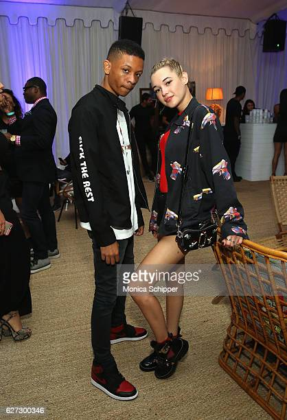 Photographer Gunner Stahl and Sarah Snyder attend In Focus Hip Hop Through The Lens Of Photographer presented by Billboard 1800 Tequila at Up Down at...