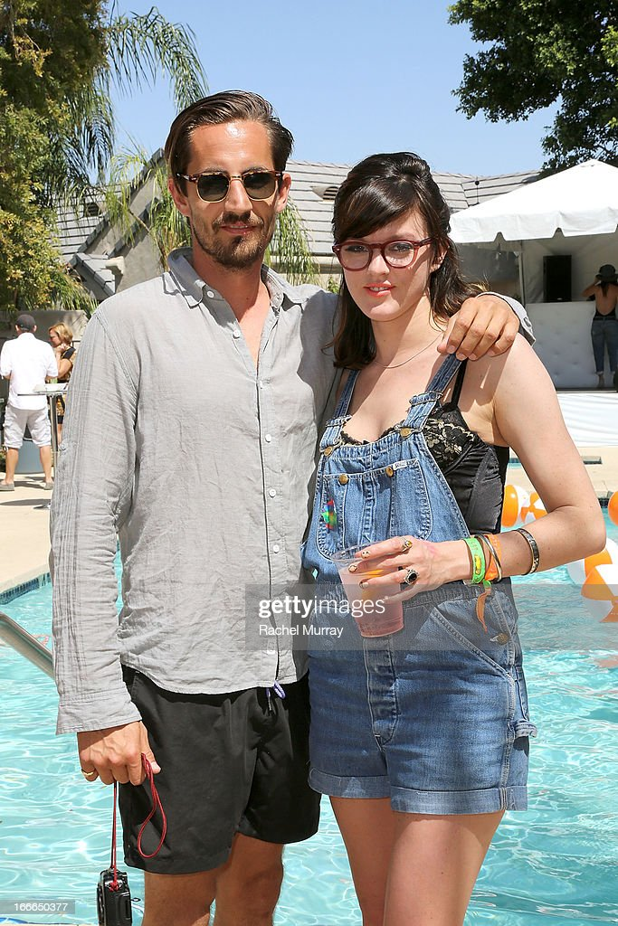 Photographer Guy Lowndes and actress Misty Fox attend NYLON x BOSS ORANGE Escape House - Day 2 at Lake La Quinta Inn on April 14, 2013 in La Quinta, California.