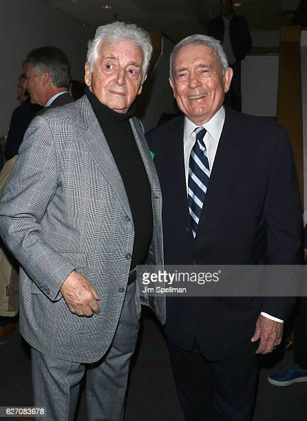 Photographer Harry Benson and journalist Dan Rather attend the premiere of 'Harry Benson Shoot First' hosted by Magnolia Pictures and The Cinema...