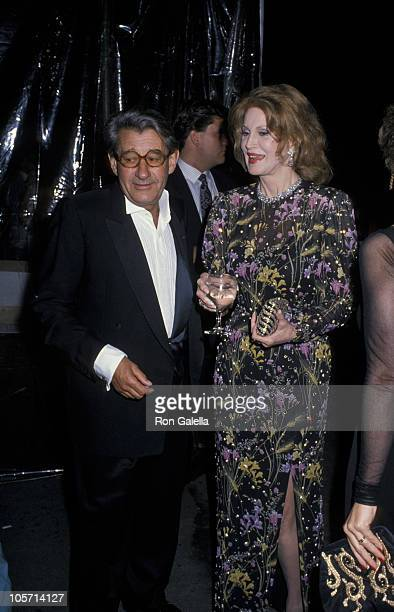 Photographer Helmut Newton and singer Phyllis McGuire attend a Just Say Yes Benefit for Phoenix House on March 22 1990 at Culver Studios in Culver...