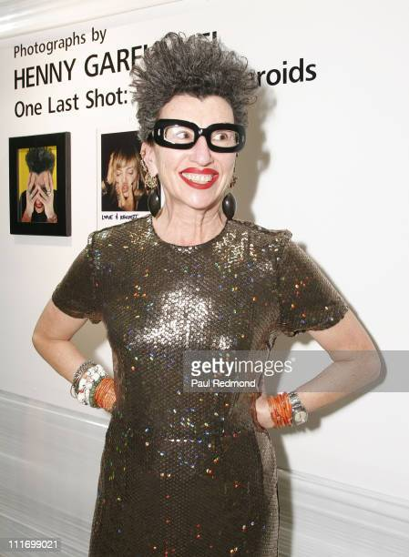 Photographer Henny Garfunkel sparkles during a reception for her signed celebrity Polaroids at PAPER Magazine's Project Los Angeles 2007 on November...
