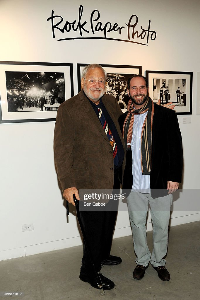 Photographer Henry Grossman, and CEO of Rock Paper Photo Mark Halpern attend The Beatles 50 Year Commemorative Anniversary photo exhibit at Rock Paper Photo NYC Pop Up Gallery on February 4, 2014 in New York City.