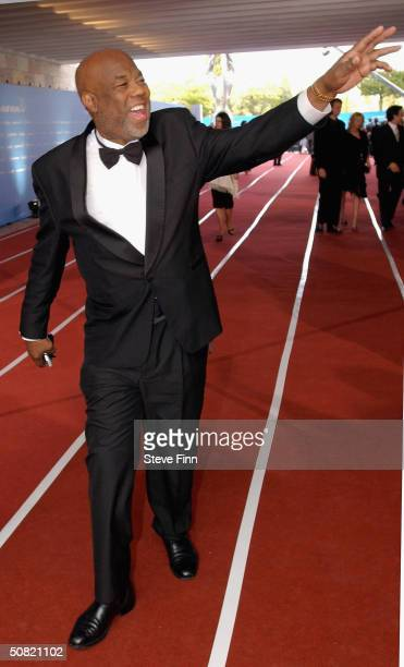 Photographer Howard Bingham arrives at the the Laureus World Sports Awards May 10 2004 in Estoril Portugal