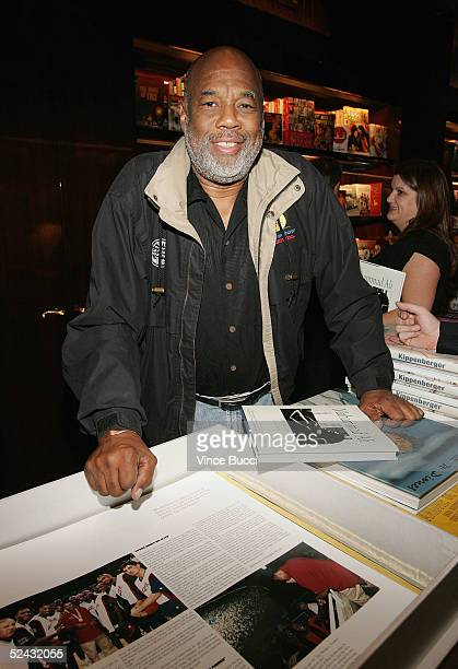 Photographer Howard Bingham attends the launch party for the release of the limited edition book 'Concert For George' at the Taschen store on March...
