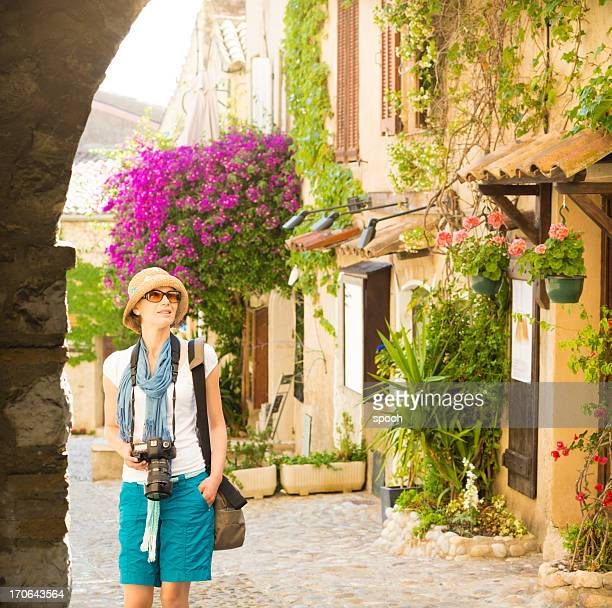 Photographer in Provencal town