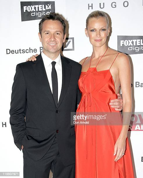 Photographer James Houston and Sarah Murdoch during Sydney 'Moves for AIDS' November 30 2006 at Deutsche Bank Place in Sydney Australia