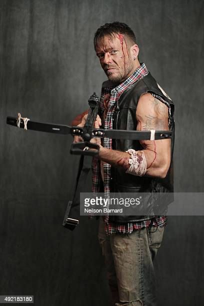 Photographer Jamie Mccarthy as Daryl Dixon from The Walking Dead during the New York Comic Con 2015 at The Jacob K Javits Convention Center on...