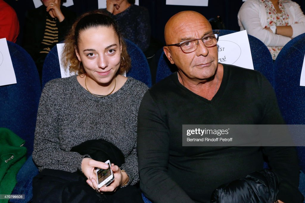 Photographer Jean-Baptiste Mondino (R) and his daughter Mahaut Mondino attend 'The Grand Budapest Hotel' Paris Premiere at Cinema Gaumont Opera Capucines on February 20, 2014 in Paris, France.