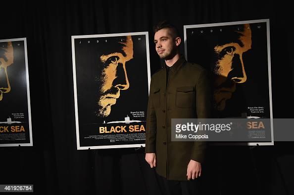 Photographer Joey L attends the 'Black Sea' New York screening at Landmark Sunshine Cinema on January 21 2015 in New York City