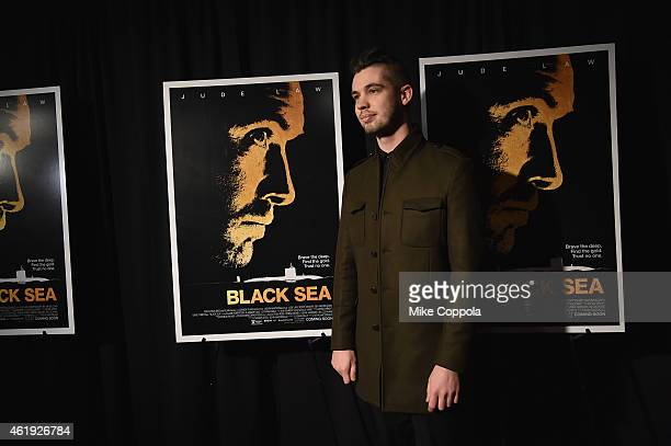 Photographer Joey L attends the 'Black Sea' New York screening at Landmark Sunshine Cinema on January 21 2015 in New York City