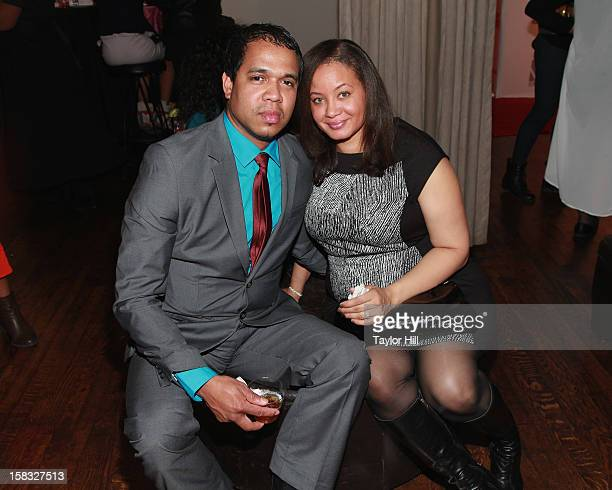 Photographer Johnny Nunez and Dr Angelique Anderson Nunez attend the 2012 Mirror Mirror Awards at The Union Square Ballroom on December 12 2012 in...