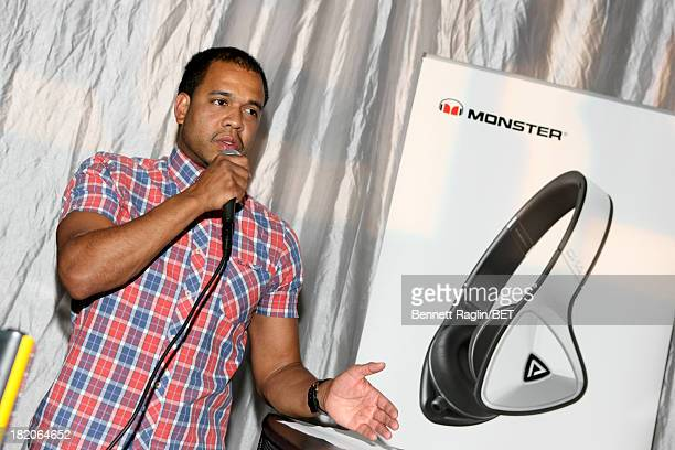 Photographer Johnny Nunez speaks at the BET Music Matters 'Press Play' event Powered by Monster at TWELVE Atlantic Station on September 27 2013 in...