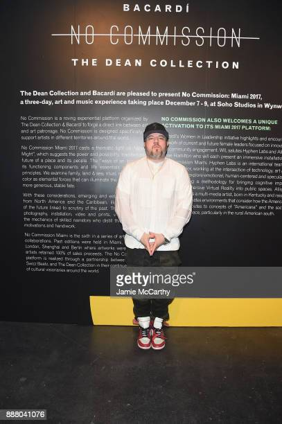 Photographer Jonathan Mannion attends BACARDI Swizz Beatz and The Dean Collection bring NO COMMISSION back to Miami to celebrate 'Island Might' at...