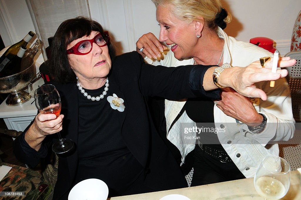 Photographer June Newton (Alice Spring) and a guest attend the Hediard Monaco Launch Cocktail at Hediard Store Metropole Center on May 11, 2010 in Monte Carlo, Monaco.