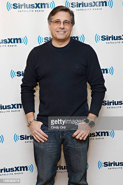 Photographer Kevin Mazur director of '$ellebrity' visits the SiriusXM Studios on January 7 2013 in New York City