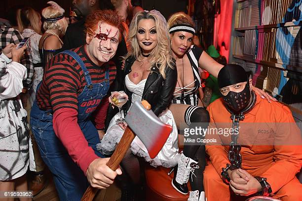 Photographer Kevin Mazur Jennifer Mazur Coco and IceT attends Heidi Klum's 17th Annual Halloween Party sponsored by SVEDKA Vodka at Vandal on October...