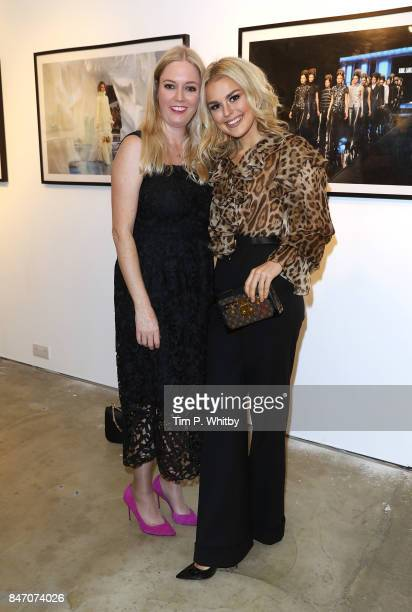 Photographer Kirstin Sinclair and Talia Storm attend the 'A Front Row Seat' photography exhibition by Kirstin Sinclair at The Subculture Archives on...