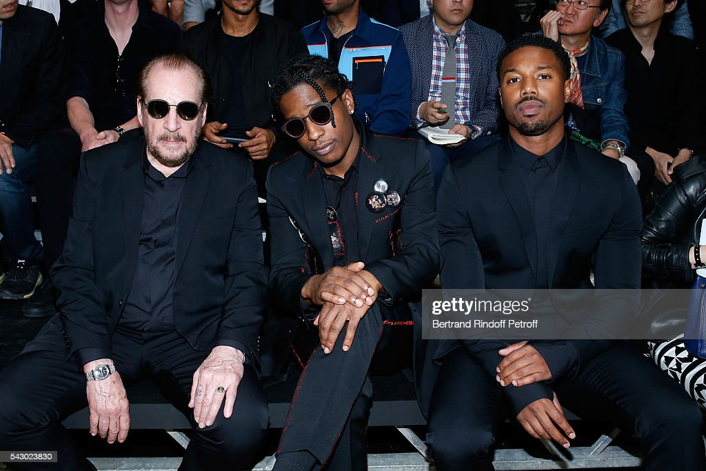 Photographer Larry Clark, A$AP Rocky and Michael B. Jordan attend the Dior Homme Menswear Spring/Summer 2017 show as part of Paris Fashion Week on June 25, 2016 in Paris, France.