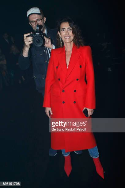 Photographer Loic Prigent and journalist Mademoiselle Agnes Boulard attend the Balenciaga show as part of the Paris Fashion Week Womenswear...