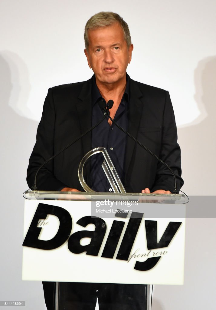 Photographer Mario Testino accepts the award for Creative of the Year onstage during the Daily Front Row's Fashion Media Awards at Four Seasons Hotel New York Downtown on September 8, 2017 in New York City.
