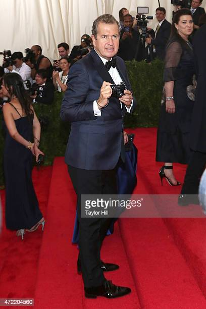 Photographer Mario Testino attends 'China Through the Looking Glass' the 2015 Costume Institute Gala at Metropolitan Museum of Art on May 4 2015 in...