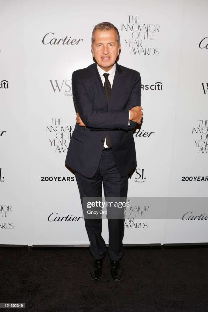 Photographer <a gi-track='captionPersonalityLinkClicked' href=/galleries/search?phrase=Mario+Testino&family=editorial&specificpeople=203087 ng-click='$event.stopPropagation()'>Mario Testino</a> attends WSJ. Magazine's 'Innovator Of The Year' Awards at MOMA on October 18, 2012 in New York City.